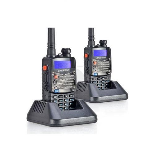 60 KM Bereik 5 Watt Set 2x Baofeng UV-5RA PLUS Dualband