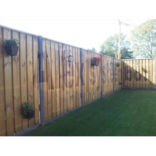 23 planks tuinschermen hout beton schutting maximale privacy