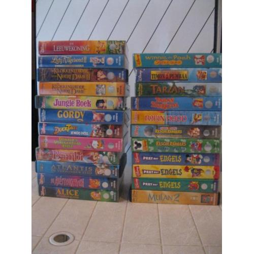 VHS Disney originele video-films 23 stuks