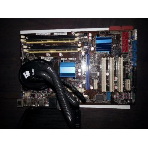 Intel Core 2 Quad 2,5 ghz incl. waterkoeling, mobo en 4gb