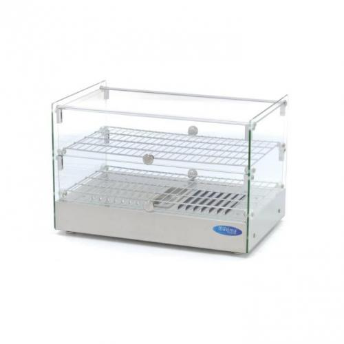 Maxima Stainless Steel Hot Display - 2 Levels - 55 cm - 50L