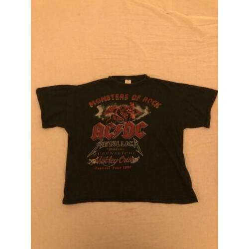 Monsters of rock 1991 vintage t-shirt metallica acdc S