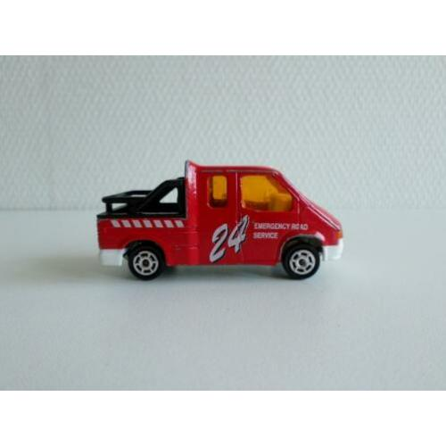 Ford Transit Road Service rood 1:60 Majorette (geen ovp)
