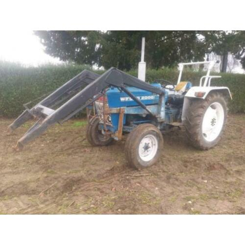 Ford 2000, ford 2000 met voorlader, ford tractor.
