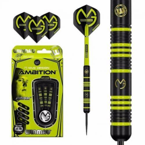 Winmau dartpijlen Michael van Gerwen Ambition black brass 22