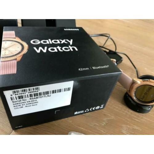 Samsung Galaxy watch. Rose gold. 42 mm. Met garantie