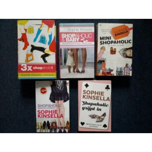 Sophie Kinsella - Shopaholic 5 voor €7,50 of €2,50 pst.