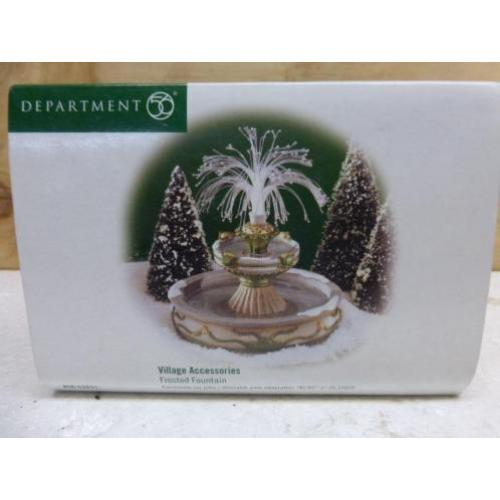 department 56 frosted fountain fontein kerstdorp kerst