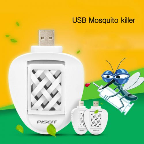 Pisen Eco Friendly USB Electric Mosquito Killer Repeller Car Travel Repellent With 2 Mats
