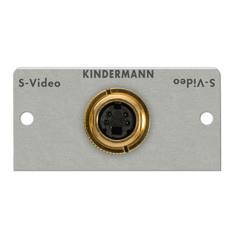 Kindermann Kindermann S Video (S VHS) 2x BNC kabel plug module Wand aansluitsystemen