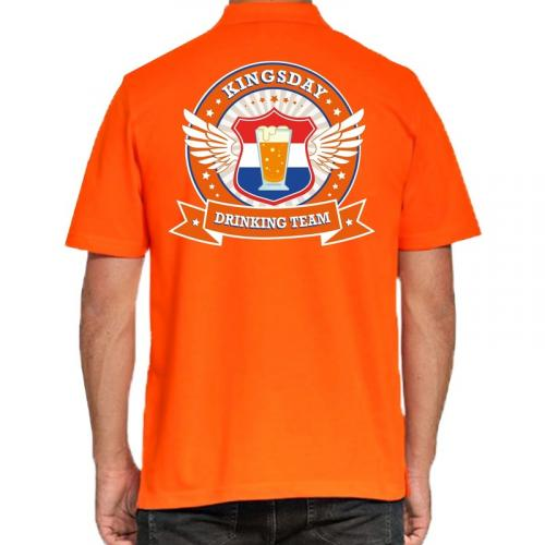 Kingsday Drinking Team poloshirt heren heren polo Koningsdag kleding