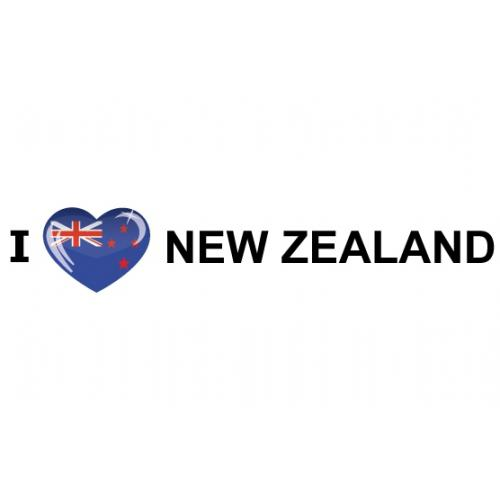 Landen sticker I Love New Zealand Shoppartners Goedkoop